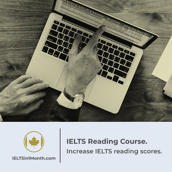 one month IELTS reading course
